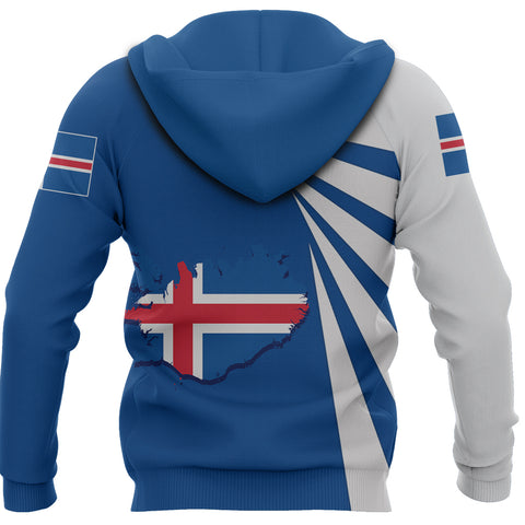 Image of 1stIceland Zip Hoodie, Iceland Puffin Map Tornado Version TH5 - 1st Iceland