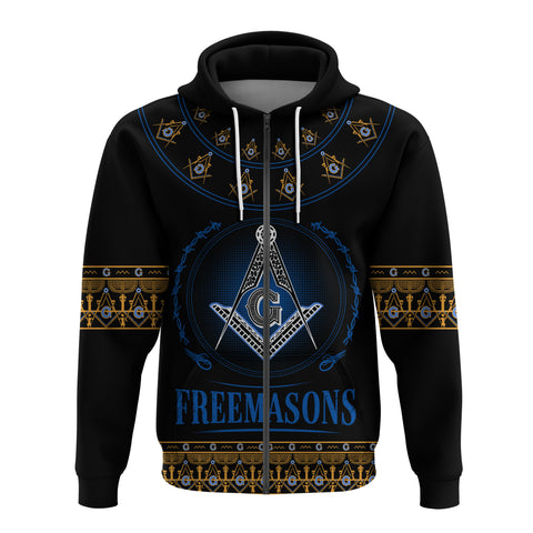 1stIceland Freemasonry Zip Up Hoodie TH5 - 1st Iceland