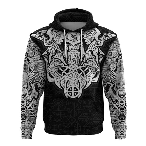 1stIceland Viking Hoodie Odin With Hungin and Munin TH5 - 1st Iceland