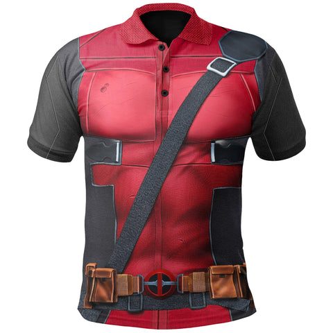 Image of 1stIceland Polo Shirts, 3D Deadpool All Over Print TH79 - 1st Iceland