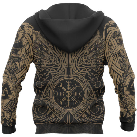1stIceland Viking Pullover Hoodie, Odin's Ravens Helm Of Awe TH5 - 1st Iceland