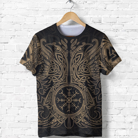 1stIceland Viking T-Shirt, Odin's Ravens Helm Of Awe Th5 - 1st Iceland