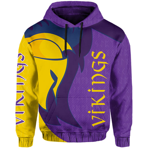 Image of 1stIceland Viking Hoodie, Odin's Warrior Runes TH5 - 1st Iceland