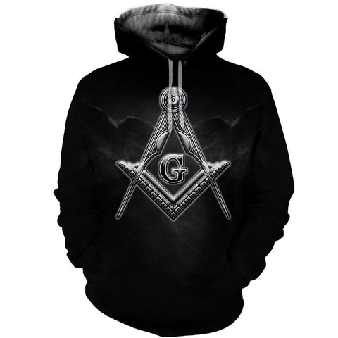 3D All Over Hoodie Freemasonry 5 TH5 - 1st Iceland