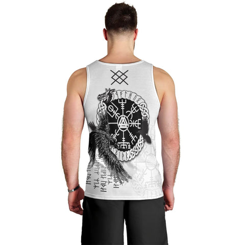 Viking Gungnir Men's Tank Top-Given To Odin, Myself To Myself White TH4 - 1st Iceland