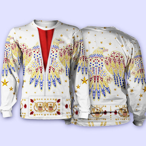 1stIceland Sweaters, 3D Elvis Presley Suit Th00 - 1st Iceland