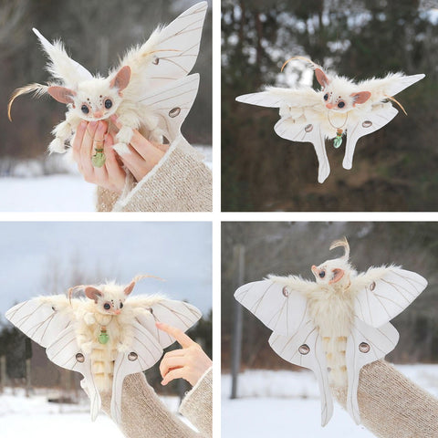 Moth Fantasy Creature Plush TH17 - 1st Iceland