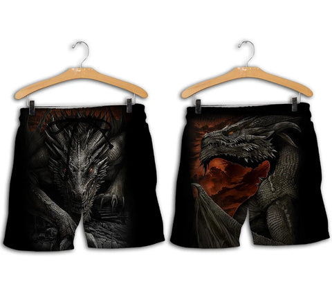 1stIceland Men Shorts, 3D Tattoo and Dungeon Dragon - 1st Iceland