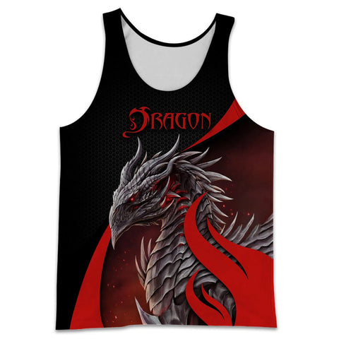 1stIceland Tattoo and Dungeon Dragon Men's Tank Top TH12 - 1st Iceland