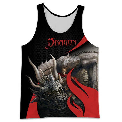 1stIceland Men Tank Top, 3D Tattoo and Dungeon Dragon - 1st Iceland
