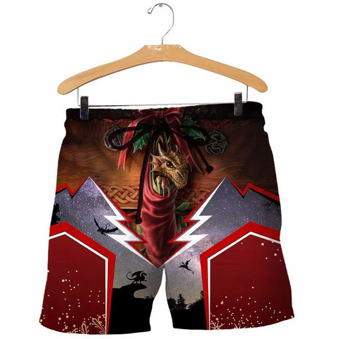 1stIceland Men Shorts, 3D Tattoo and Dungeon Dragon Christmas Version - 1st Iceland