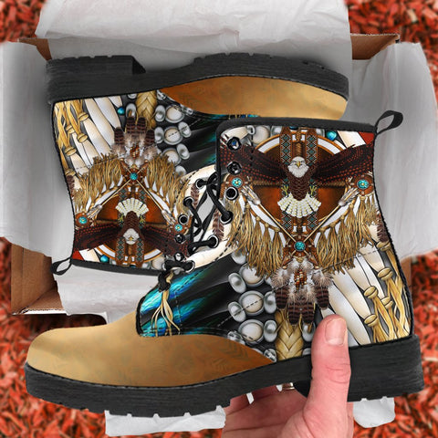 Native American Leather Boots Mandala 3Th K7 - 1st Iceland