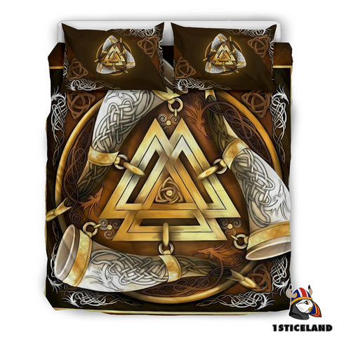 1stIceland Viking Bedding Set, Triskele Valknut Celtic Knot K7 - 1st Iceland