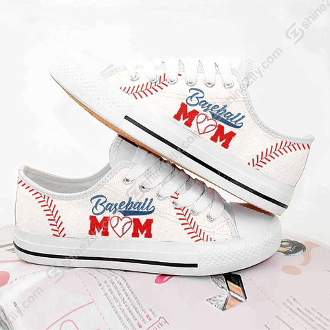 Baseball Mom Low Top Shoes - 1st Iceland