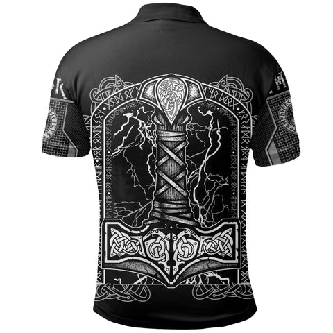 Image of 1stIceland Viking Polo Shirt Thor Hammer Beautiful TH12 - 1st Iceland