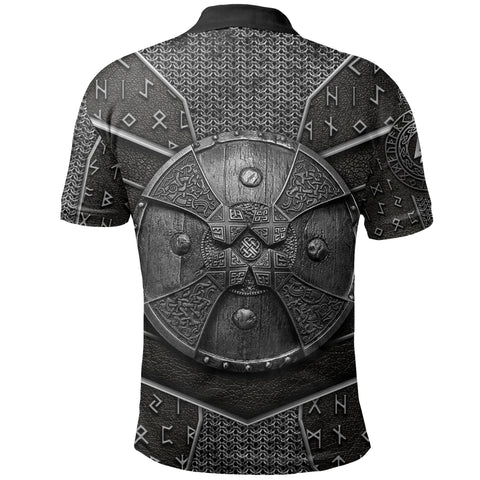 Image of 1stIceland Viking Polo Shirt Odin Armor  | 1sticeland.com