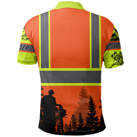 (Customize) 1sticeland Logger Safety Polo Shirt TH12 - 1st Iceland