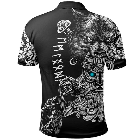 1stIceland Odin Viking Tattoo Polo Shirt TH12 - 1st Iceland