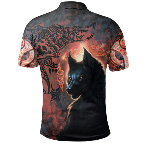 Image of 1stIceland Viking Polo Shirt Fenrir Grunge Style TH12 - 1st Iceland