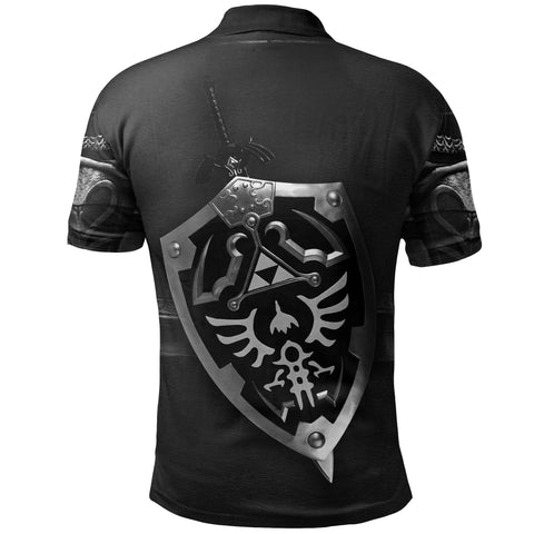 1stIceland Polo T-Shirt, 3D Dark Link Costume All Over Print - 1st Iceland