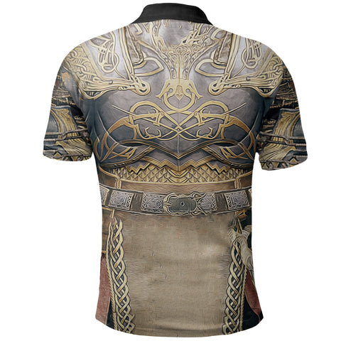 1stIceland Polo T-Shirt, Kratos Armor All Over Print TH00 - 1st Iceland