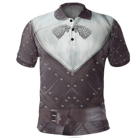 Image of 1stIceland Polo T-Shirt, 3D Arya Stark Armor All Over Print - 1st Iceland