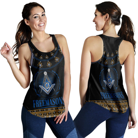 Image of 1stIceland Freemasonry Women Racerback Tank TH5 - 1st Iceland