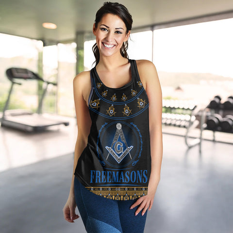 1stIceland Freemasonry Women Racerback Tank TH5 - 1st Iceland