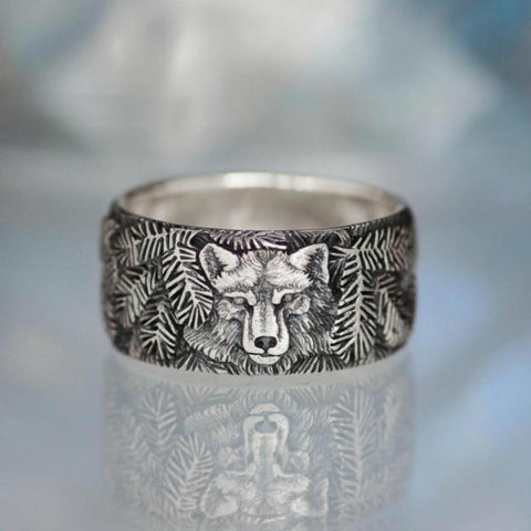 Image of Wolf Carved Rings TH10 - 1st Iceland