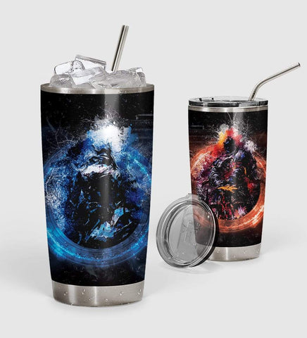 Image of 3D Dark Souls And Bloodborne Custom Design Vacuum Insulated Tumbler K6 - 1st Iceland
