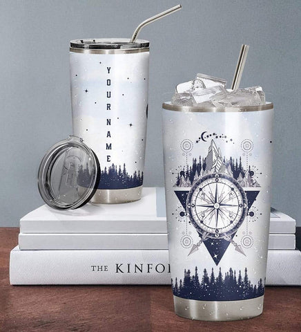 3D Wolf Soul Into The Forest I Go Custom Name Design Vacuum Insulated Tumbler K6 - 1st Iceland