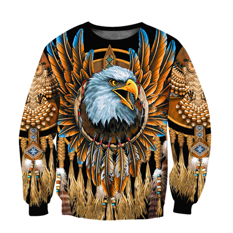 1sticeland Beautiful Eagle Dreamcatcher Native American Sweatshirt TH12 - 1st Iceland