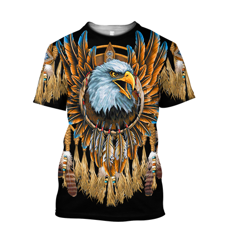 1sticeland Beautiful Eagle Dreamcatcher Native American T-Shirt TH12 - 1st Iceland