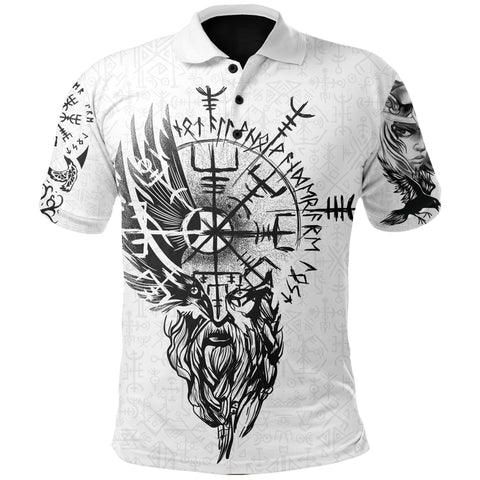 Image of 1stIceland Viking Polo Shirts, Valkyrie Odin's Raven Valknut Helm Of Awe TH5 - 1st Iceland