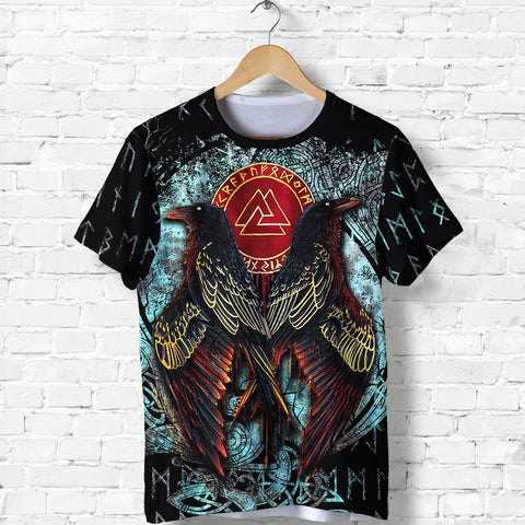 Image of 1stIceland Viking T-Shirt Raven Moon Tattoo TH12 - 1st Iceland