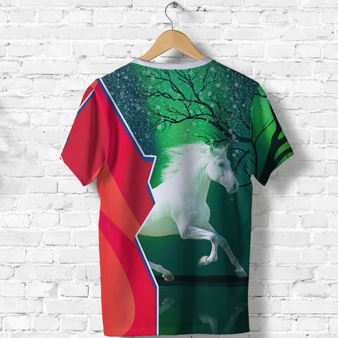 Image of (Custom Personalised) 1stIceland Horse T Shirt Northern Lights K13 - 1st Iceland