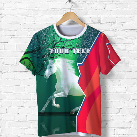 (Custom Personalised) 1stIceland Horse T Shirt Northern Lights K13 - 1st Iceland