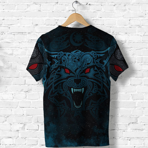 1stIceland Viking T-Shirt Moon Wolf Tattoo TH12 - 1st Iceland