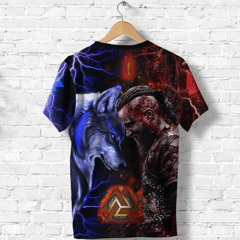 1sticeland Viking T-Shirt Ragnar and Wolf TH12 - 1st Iceland
