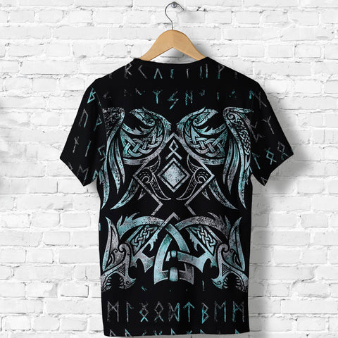 1stIceland Viking T-Shirt Raven Moon Tattoo TH12 - 1st Iceland