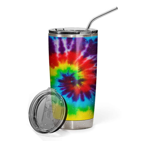 3D Hippie Yoga I'm Mostly Peace Love And Light Custom Design Vacuum Insulated Tumbler K6 - 1st Iceland