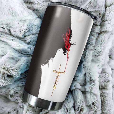 3D Jesus Save My Life Custom Name Design Vacuum Insulated Tumbler K6 - 1st Iceland