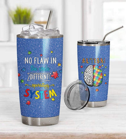 3D Autism No Flaw In The Code Custom Design Vacuum Insulated Tumbler K6 - 1st Iceland