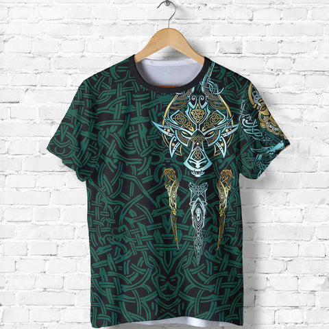 1stIceland Viking T-Shirt, Fenrir The Vikings Wolves Th00 - 1st Iceland