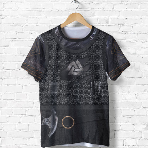 1stIceland Vikings T-Shirt, New Valknut 3D Viking Armour Th00 - 1st Iceland