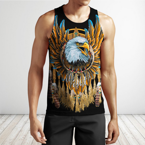 1stIceland Beautiful Eagle Dreamcatcher Native American Men's Tank Top TH12 - 1st Iceland
