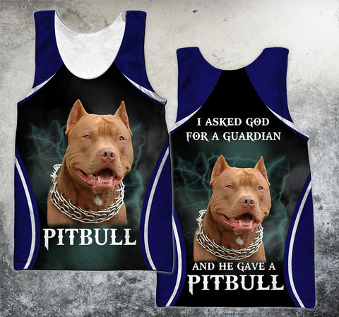 1stIceland Pit Bull Lovers Men's Tank Top TH12 - 1st Iceland