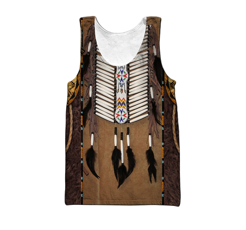 1st Iceland Premium Native American Culture 3D Men's Tank Top TH12 - 1st Iceland