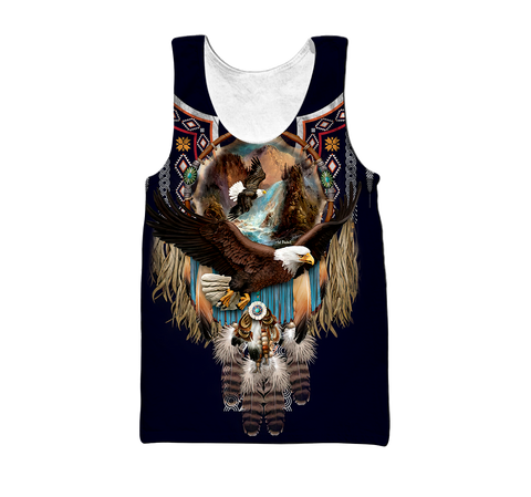 1st Iceland Eagle Fly Dreamcatcher Native American Men's Tank Top TH12 - 1st Iceland