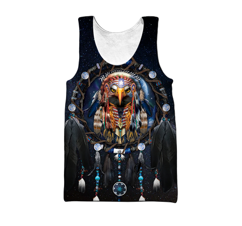 1st Iceland Eagle Dreamcatcher Native American Men's Tank Top TH12 - 1st Iceland